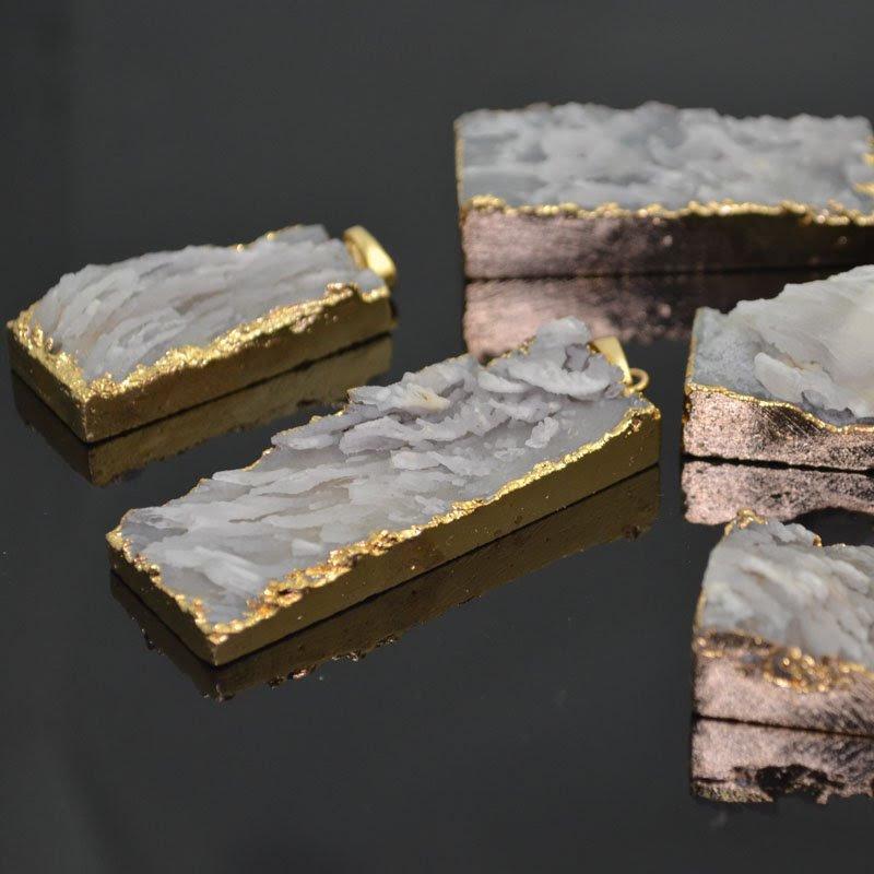 s41212 Stone Pendant -  Rough Quartz Pendant - Natural (1)