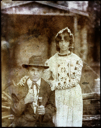 Son and daughter tintype