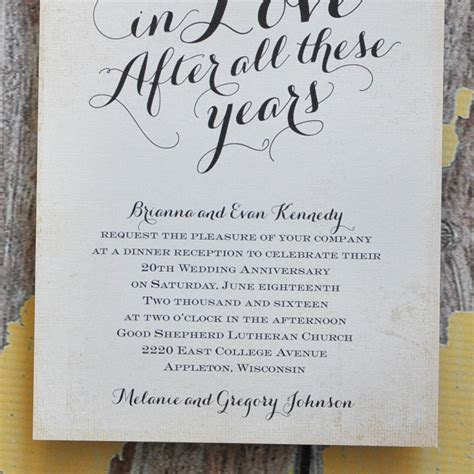 Finding the Right Wedding Anniversary Invitation Wording