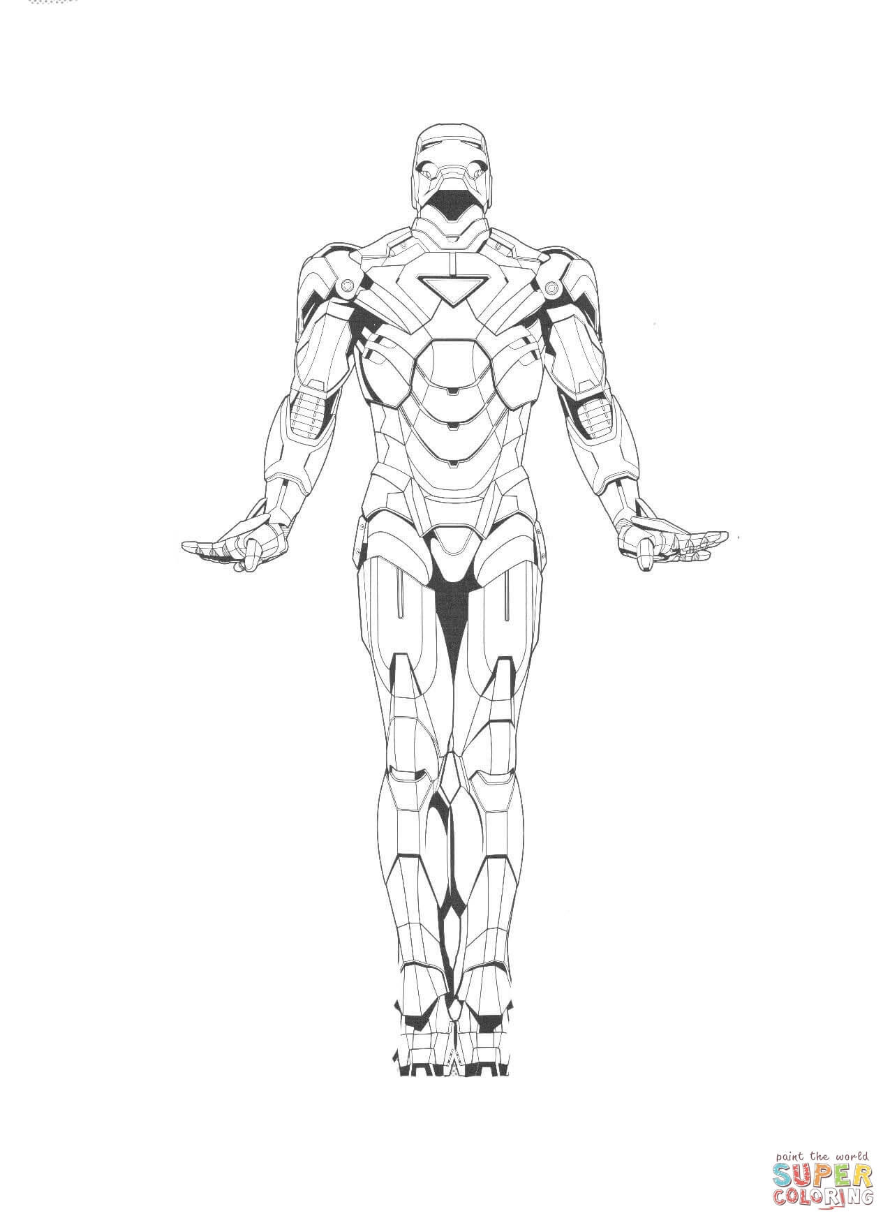 Iron Man 2 coloring page | Free Printable Coloring Pages