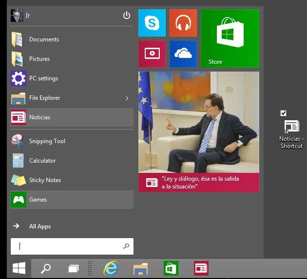 Menú de inicio Windows 10, a fondo