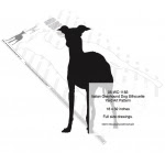 Italian Greyhound Dog Silhouette Yard Art Woodworking Pattern - fee plans from WoodworkersWorkshop® Online Store - Italian Greyhound dogs,pets,animals,yard art,painting wood crafts,scrollsawing patterns,drawings,plywood,plywoodworking plans,woodworkers projects,workshop blueprints