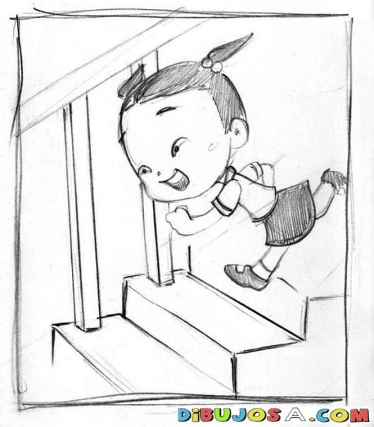 Niños Bajando Escaleras Para Colorear Imagui