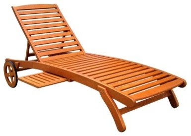 Royal Tahiti Wooden Multi-Position Chaise Lounge - modern - day ...