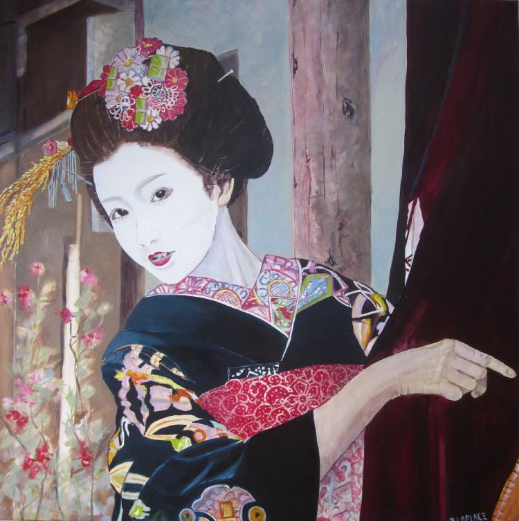 Tableau Peinture Geisha