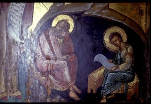 Ιωάννης & Πρόχορος. Σπήλαιο Αποκαλύψεως. Πάτμος 1596
