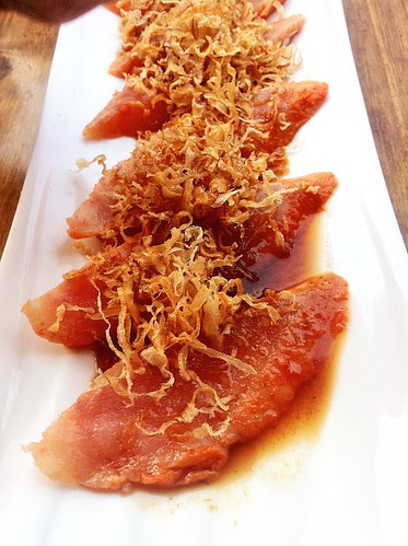 Seared Albacore Sashimi w/Crispy Onion