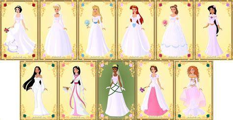 Disney Princesses   Wedding Dresses by IndyGirl89 on