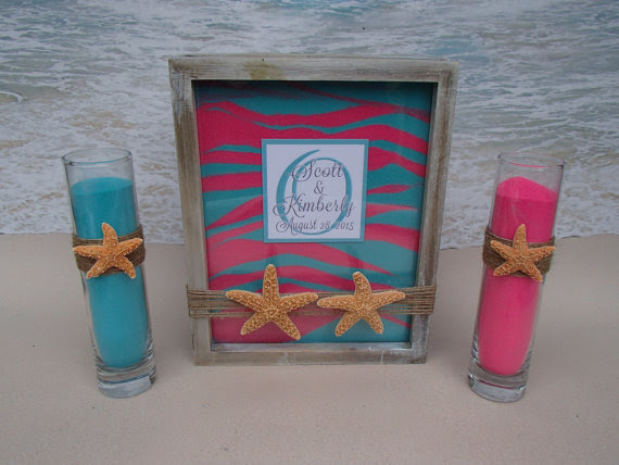 Starfish Sand Unity Frame Ceremony Set Includes Custom Monogram