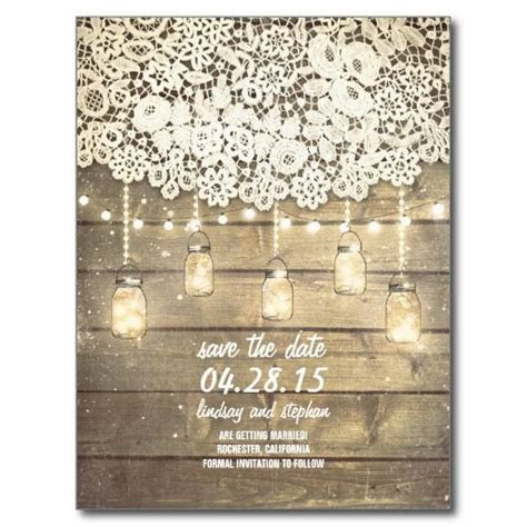 25  Best Ideas about Rustic Save The Dates on Pinterest