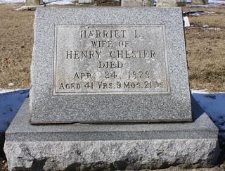 Harriet L. Chester 1878
