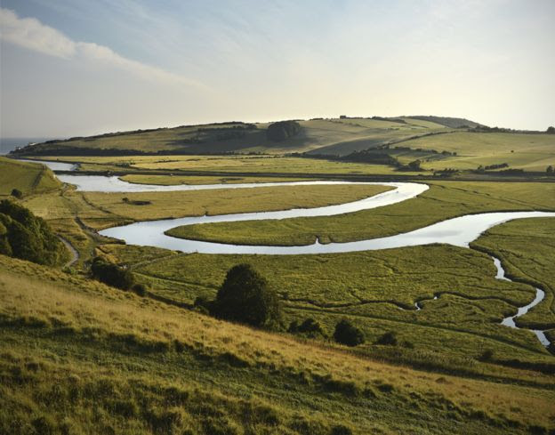 Meandering river - South Downs
