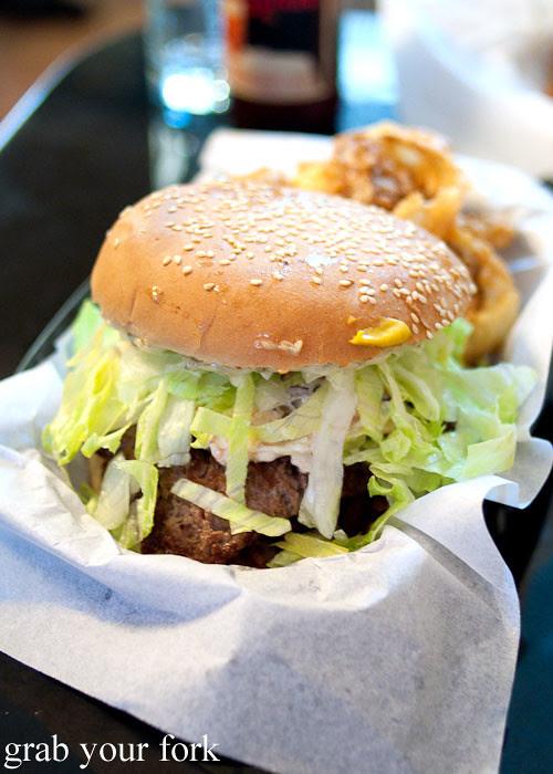 backyard bbq beef burger at jazz city diner darlinghurst