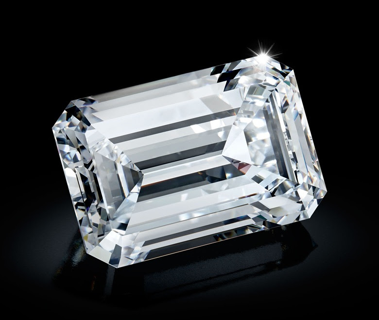 The 163.41 carat emerald-cut gem that was extracted from the rough diamond following months of detailed analysis