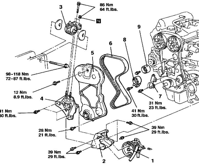 2006 Suzuki Forenza Timing Belt Diagram