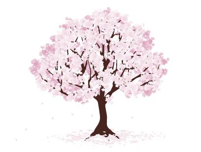 桜の木細部が凄いイラストaieps ベクタークラブイラストレーター
