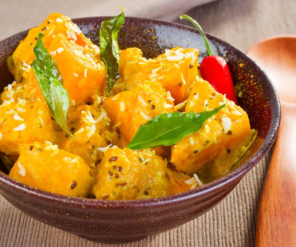 Healthy vegetarian pumpkin curry recipe