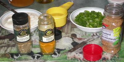Yogourt Curry Ingredients