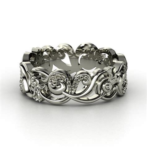 Poseidon Band   Palladium Ring in 2019   Gemstone   Silver