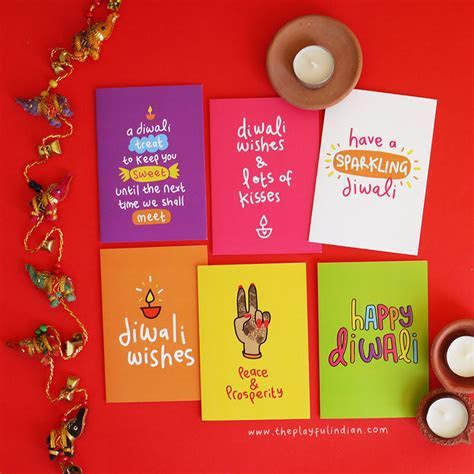 Bright & Modern Diwali Greeting Cards ? Pack Of 6 ? The