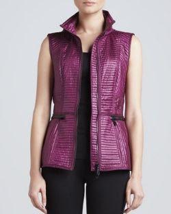Burberry London Leather Trim Hood Vest