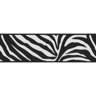 Zebra Turquoise Collection Wall Paper Border for Sale | Wayfair