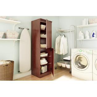 South Shore Morgan Narrow Storage Cabinet Royal Cherry - Furniture