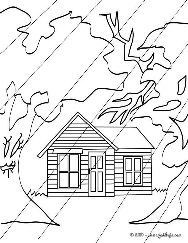 Lluvia Lecturas Infantiles Dibujos Para Colorear Dibujo Para