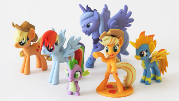 3D-printed My Little Pony figurines