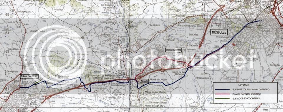 El tren a Navalcarnero sigue paralizado - pincha para ampliar el plano