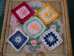 Flower Squares and Blue and White Squares from Kimblesathome (UK) Gorgeous Squares all of them thank you so much!
