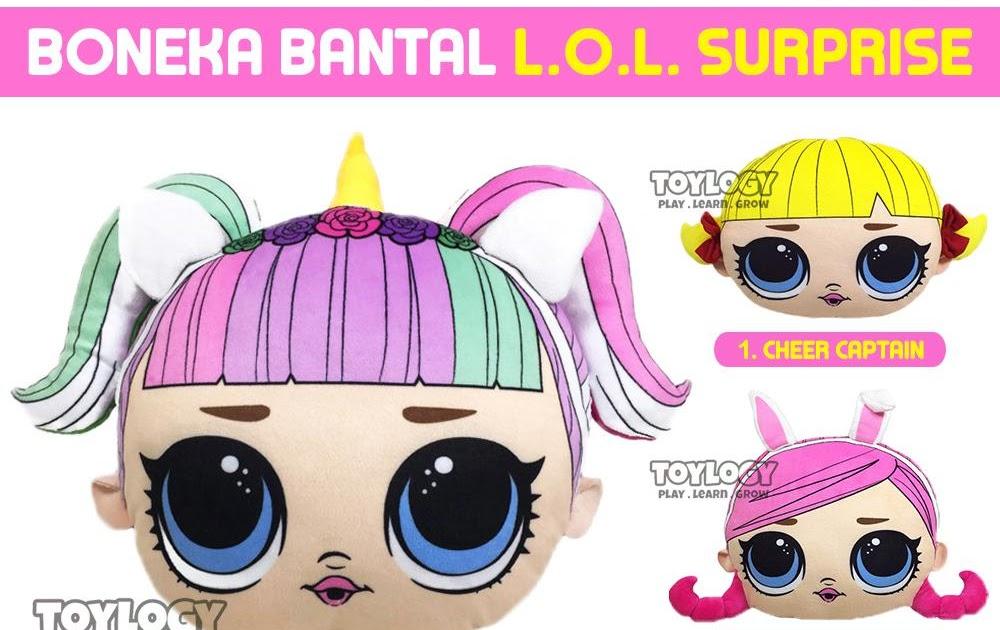 harga bantal kepala karakter lol surprise unicorn hops