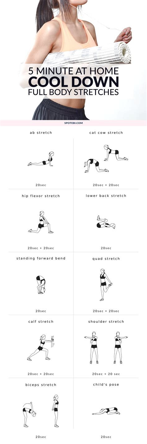 minute full body cool  exercises