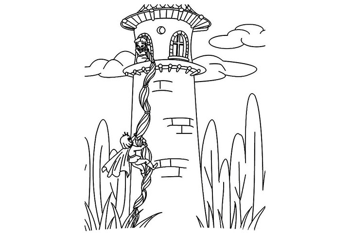75+ Rapunzel Tower Coloring Page - flower wallpaper