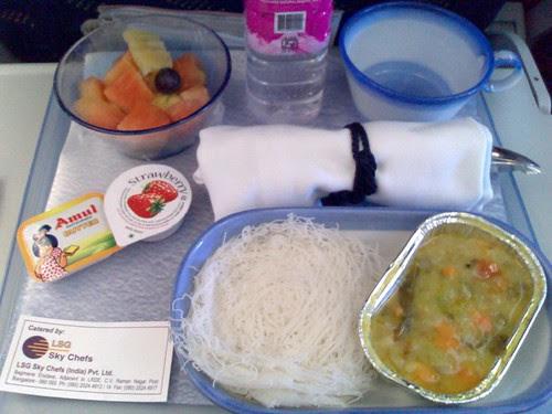 Breakfast on Jet Airways