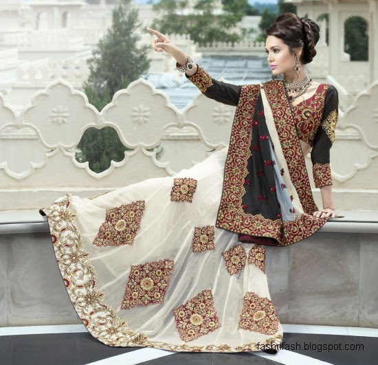 Wedding White Sarees Online: Fashion & Fok: Bridal-Wedding Saree Dress Designs-Indian