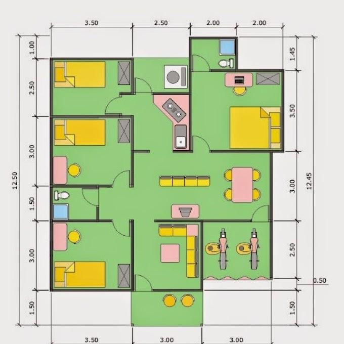 Desain Rumah Minimalis Sederhana Kamar 3