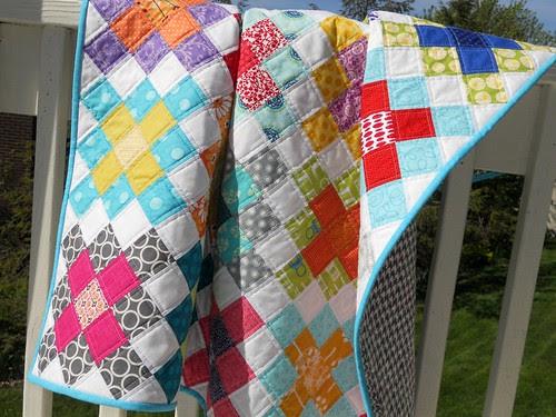 Granny Squares baby quilt