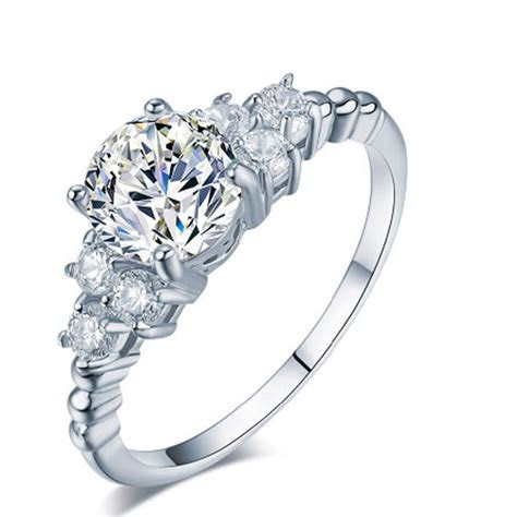 New Hot Luxury Carving Filigree Band CZ Zircon Wedding
