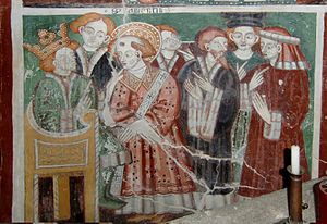 English: Unknown painter of XV century, The Em...