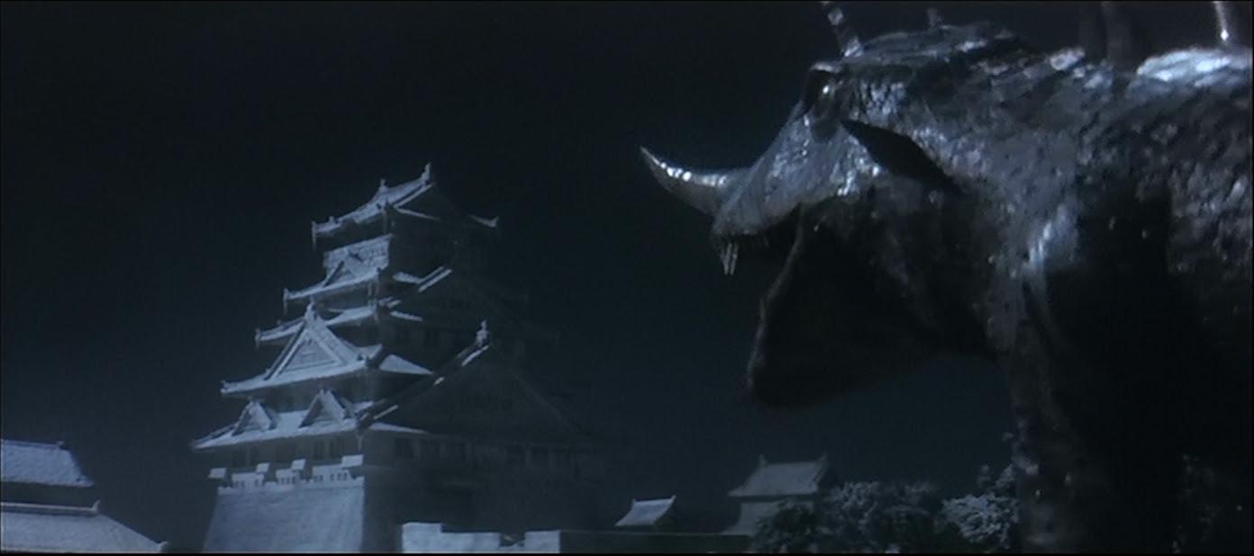 Barugon poses with Osaka Castle