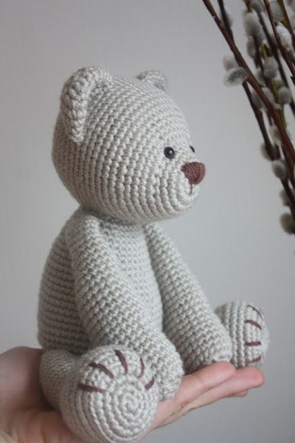 Paid pattern links to etsy shop from blog. Cute bear, it's arms and legs move. Teddy Bear PDF Pattern