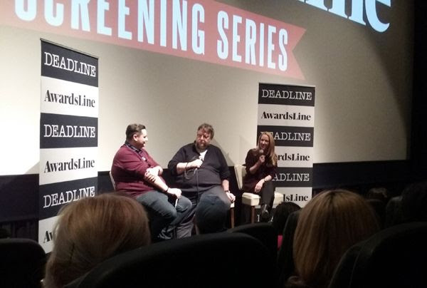Director Guillermo del Toro and co-writer Vanessa Taylor do a Q&A panel for THE SHAPE OF WATER at Landmark Theatres in west Los Angeles...on February 22, 2018.