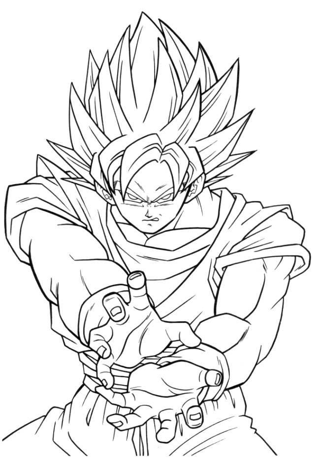 Disegni Da Colorare Goku Super Saiyan Coloratutto Website