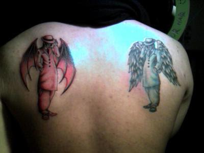 Angel Devil Tattoos on Angel And Devil Tattoo By  Duckunit1818 On Deviantart