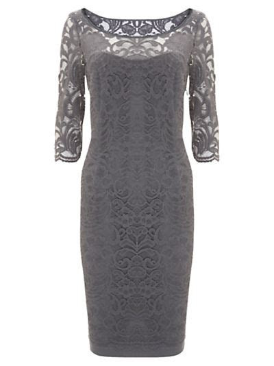 Buy Mint Velvet Lace Boarder Dress, Storm online at