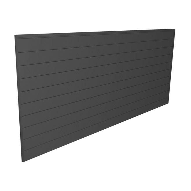 "PVC Storage Slat Wall 4' x 8' x 0.6"" - Charcoal | RONA"