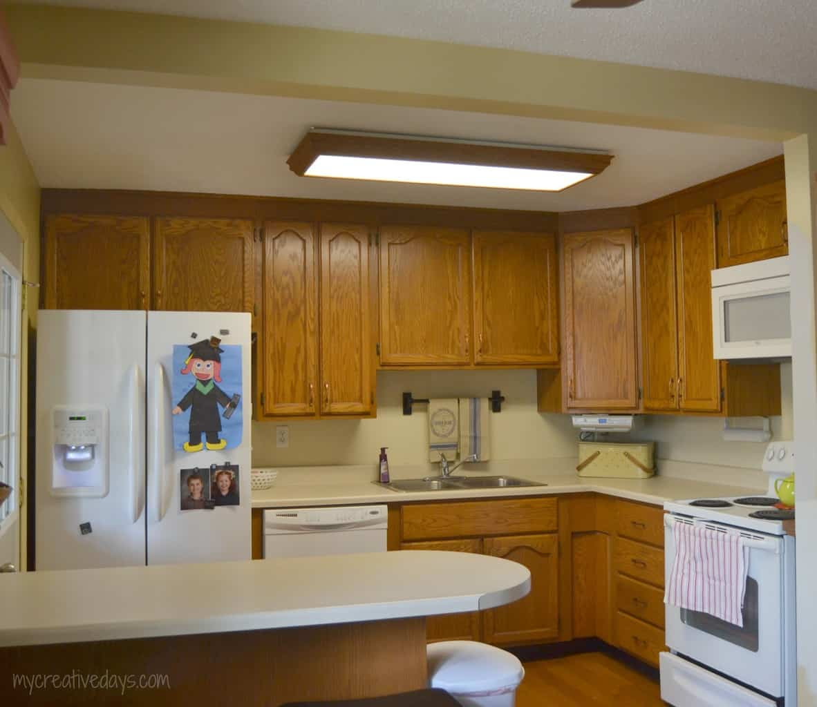 DIY Kitchen Light Fixtures {Part 1}  My Creative Days