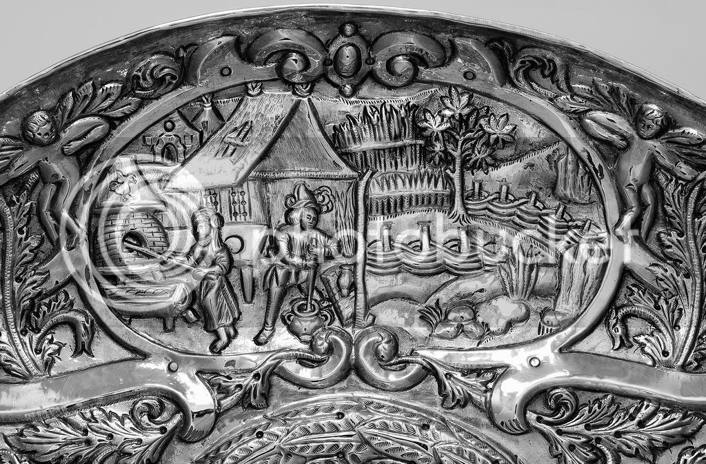 salva portuguesa oitocentista, colecção particular, detalhe