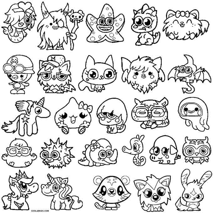 My Pet Monster Free Colouring Pages Coloring Pages